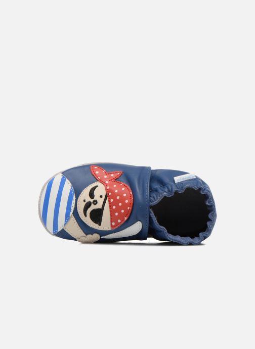 Pantofole Robeez Jolly Peg Azzurro immagine sinistra