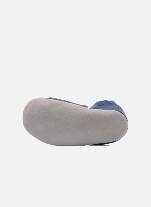 Hausschuhe Robeez Jolly Peg blau ansicht von oben
