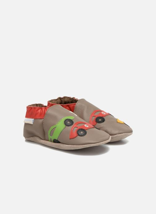 Pantuflas Robeez Rally Party Beige vista de detalle / par