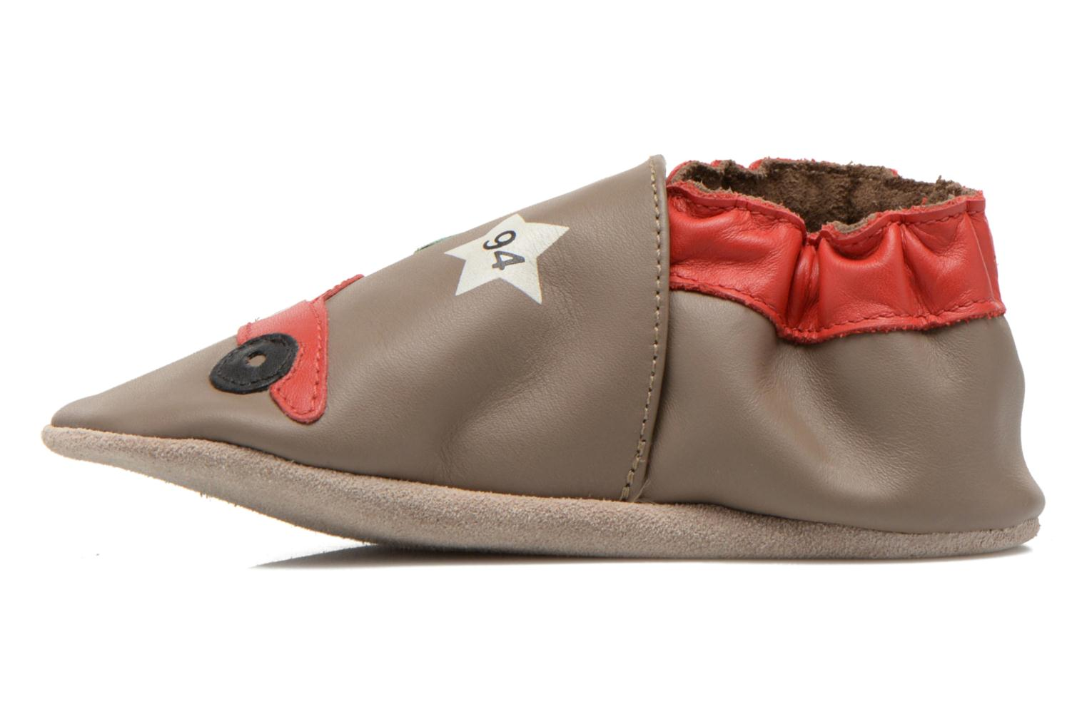 Chaussons Robeez Rally Party Beige vue face