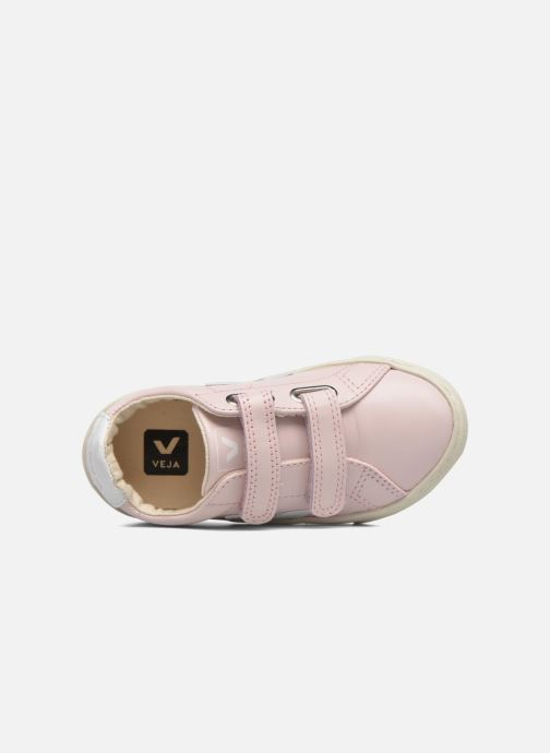 Trainers Veja Esplar Small Velcro Pink view from the left