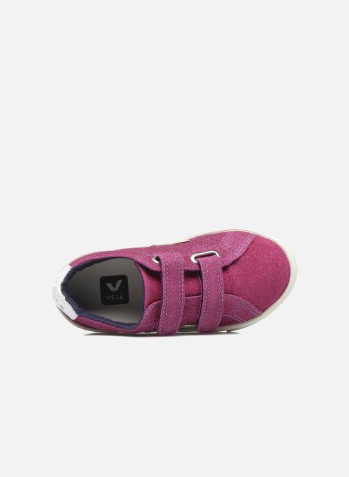 Baskets Veja Esplar Small Velcro Violet vue gauche