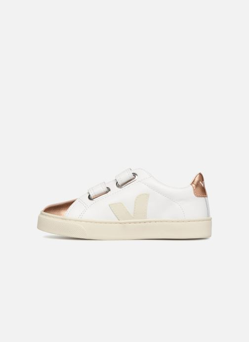Baskets Veja Esplar Small Velcro Blanc vue face
