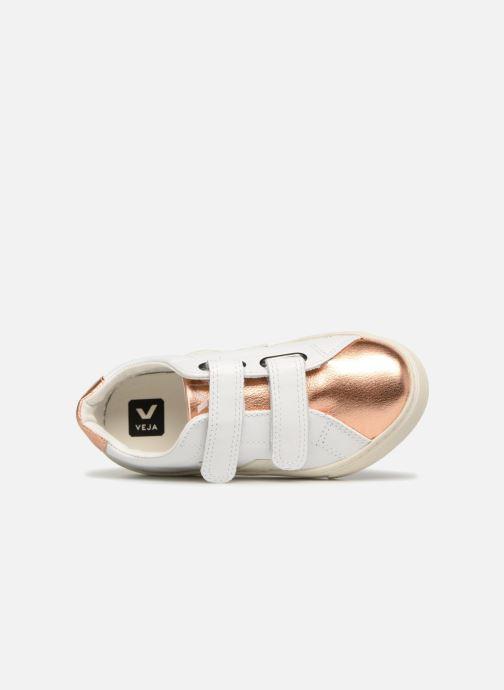 Sneakers Veja Esplar Small Velcro Bianco immagine sinistra
