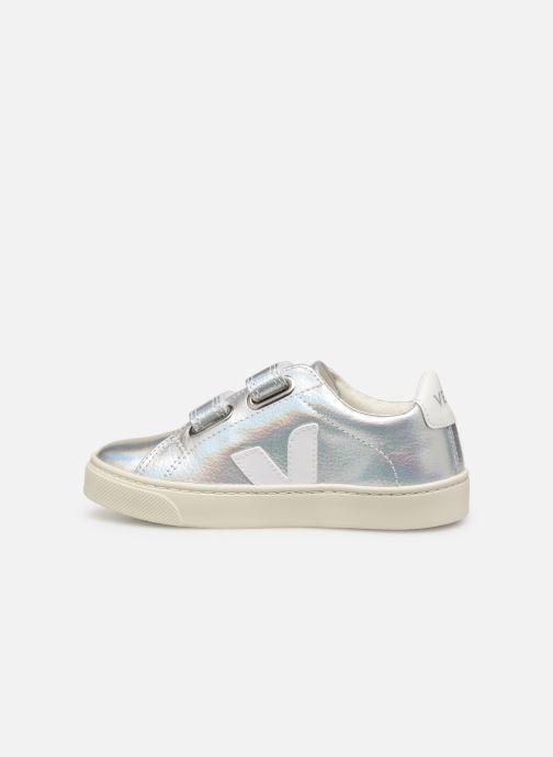 Sneakers Veja Esplar Small Velcro Argento immagine frontale