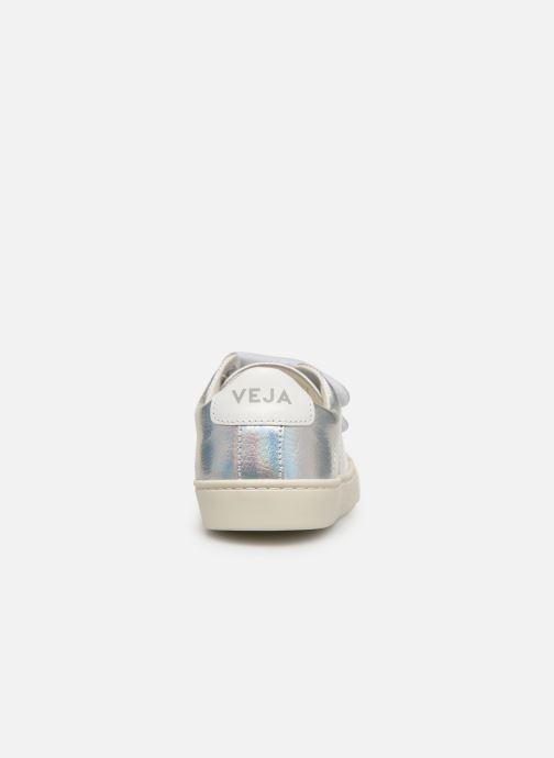 Baskets Veja Esplar Small Velcro Argent vue droite