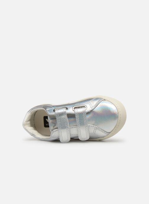 Sneakers Veja Esplar Small Velcro Argento immagine sinistra