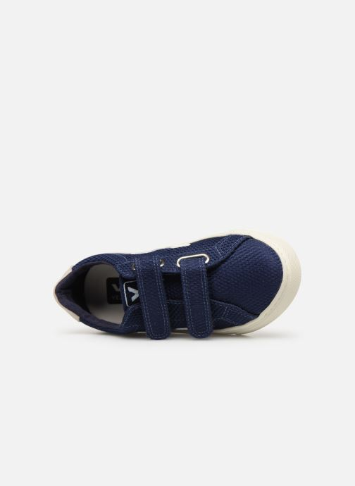 Baskets Veja Esplar Small Velcro Bleu vue gauche