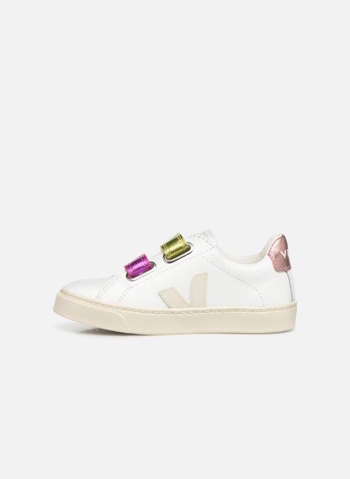 Sneaker Veja Esplar Small Velcro weiß ansicht von vorne