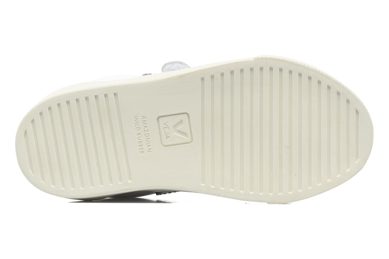 Baskets Veja Esplar Small Velcro Blanc vue haut