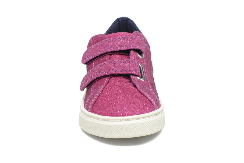 Baskets Veja Esplar Small Velcro Violet vue portées chaussures