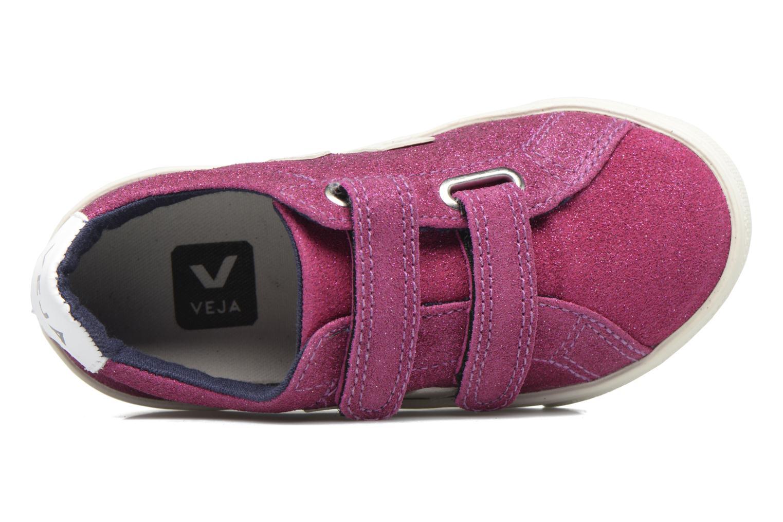 Deportivas Veja Esplar Small Velcro Violeta      vista lateral izquierda