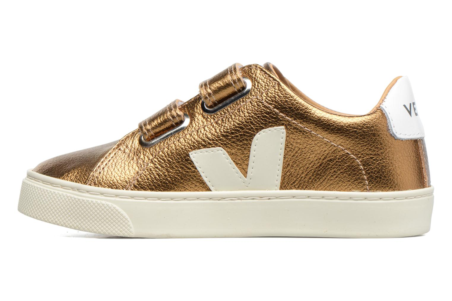 Baskets Veja Esplar Small Velcro Or et bronze vue face
