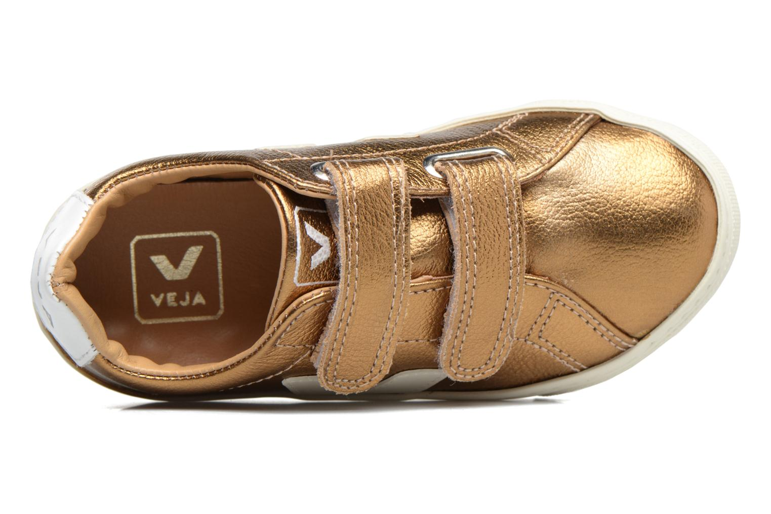 Baskets Veja Esplar Small Velcro Or et bronze vue gauche
