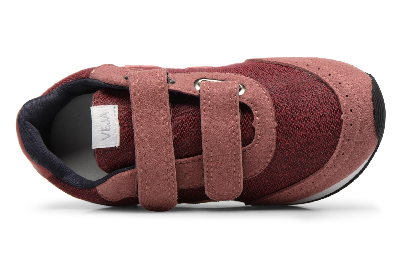 Trainers Veja Arcade Small Burgundy view from the left