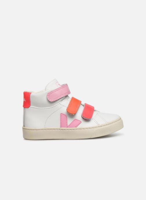 Sneakers Veja Esplar Mid Small Velcro Wit achterkant