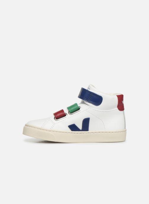 Sneakers Veja Esplar Mid Small Velcro Wit voorkant
