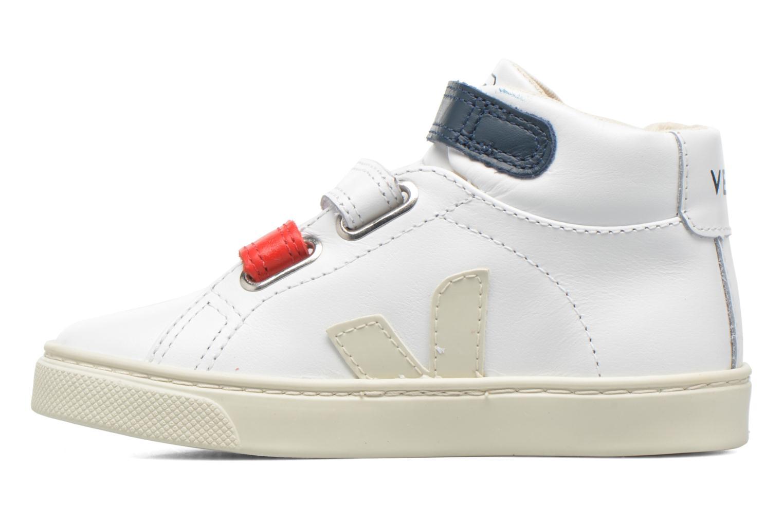 Deportivas Veja Esplar Mid Small Velcro Blanco vista de frente