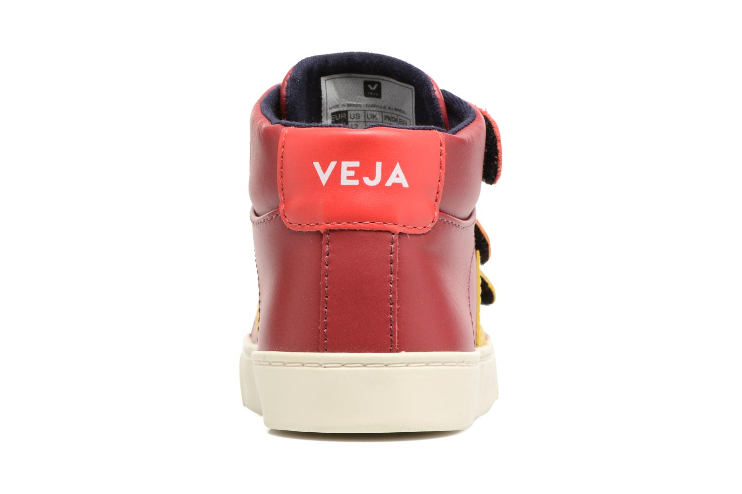 Trainers Veja Esplar Mid Small Velcro Red view from the right
