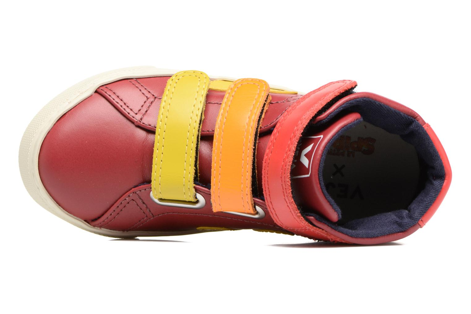 Trainers Veja Esplar Mid Small Velcro Red view from the left