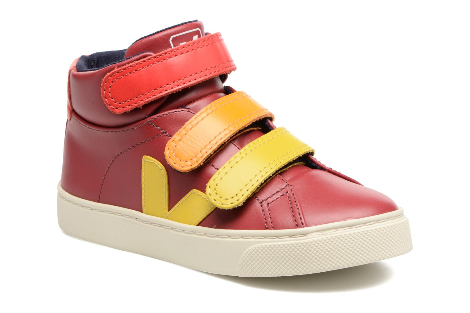 Trainers Veja Esplar Mid Small Velcro Red detailed view/ Pair view