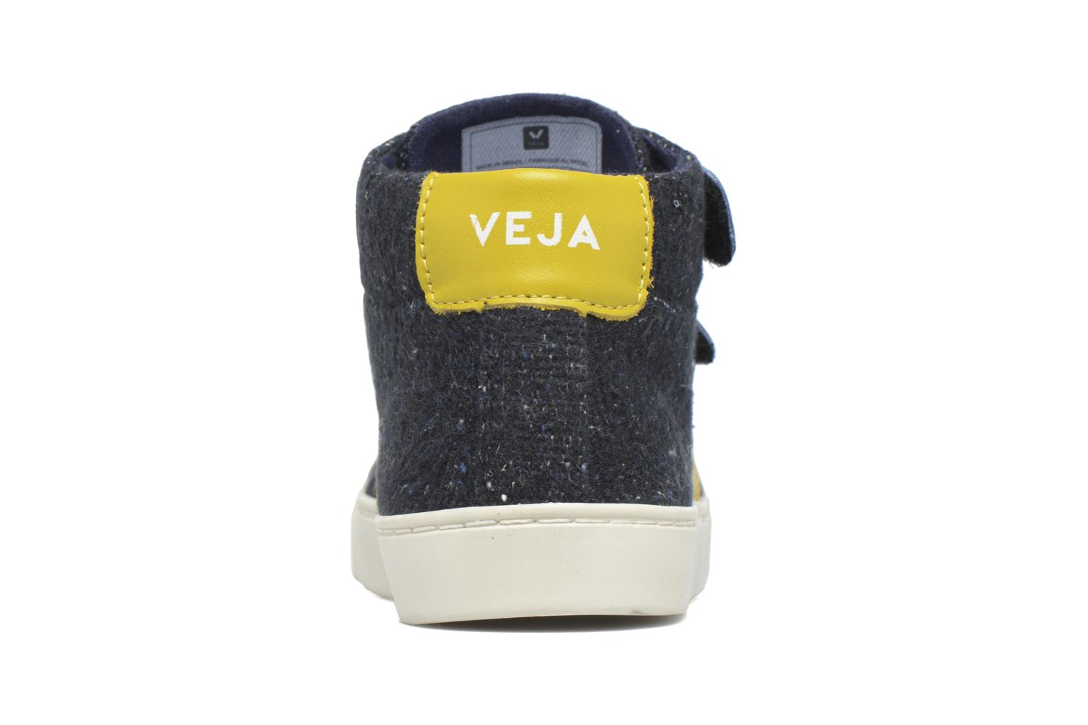 Trainers Veja Esplar Mid Small Velcro Blue view from the right