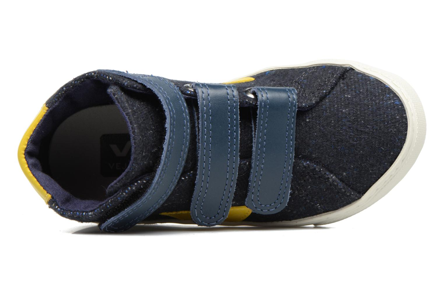 Trainers Veja Esplar Mid Small Velcro Blue view from the left