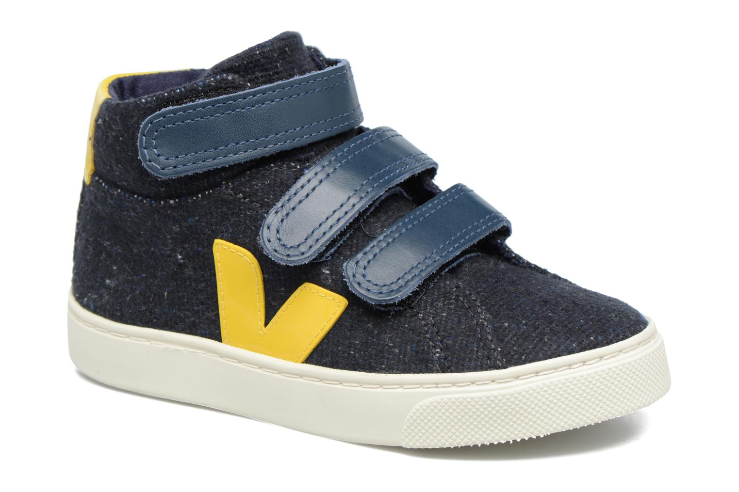 Trainers Veja Esplar Mid Small Velcro Blue detailed view/ Pair view
