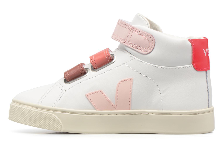 Baskets Veja Esplar Mid Small Velcro Blanc vue face