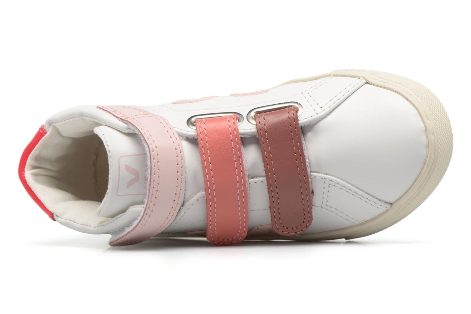 Trainers Veja Esplar Mid Small Velcro White view from the left