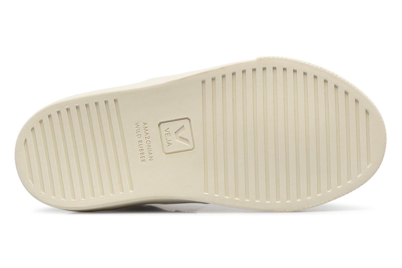 Sneaker Veja Esplar Mid Small Velcro beige ansicht von oben