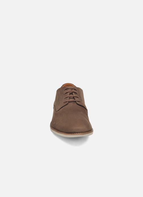 Snøresko Clarks Franson Plain Brun se skoene på