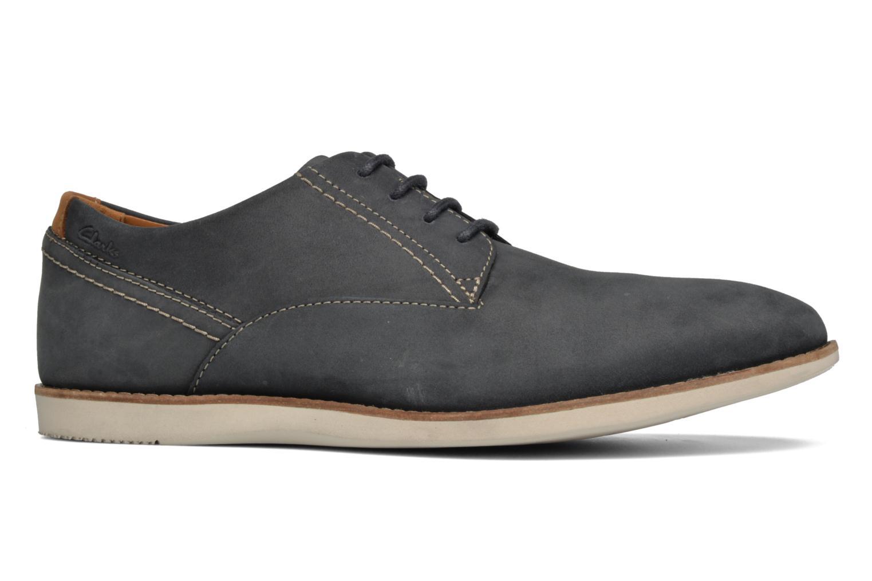 Chaussures à lacets Clarks Franson Plain Bleu vue derrière
