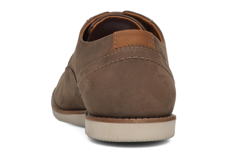 Zapatos con cordones Clarks Franson Plain Marrón vista lateral derecha