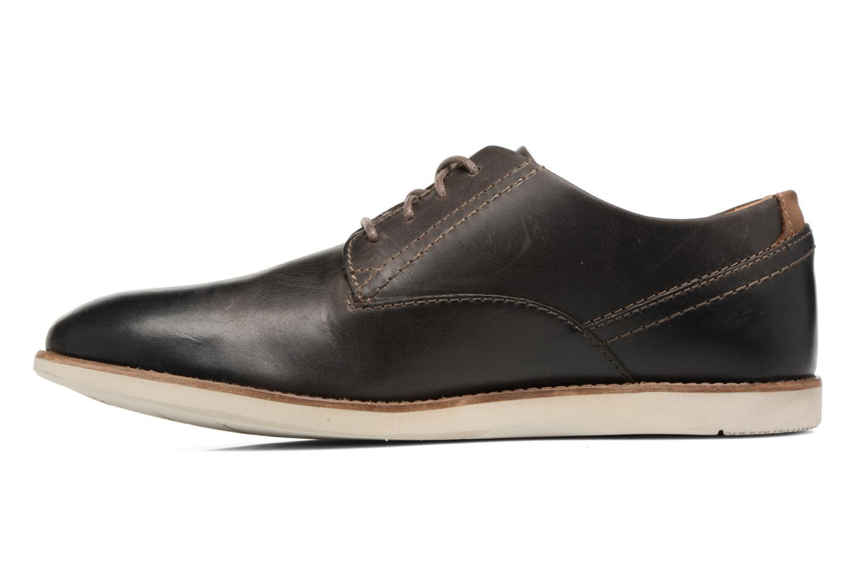 Chaussures à lacets Clarks Franson Plain Gris vue face