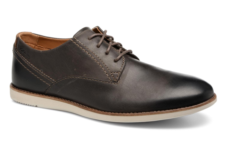 Chaussures à lacets Clarks Franson Plain Gris vue détail/paire
