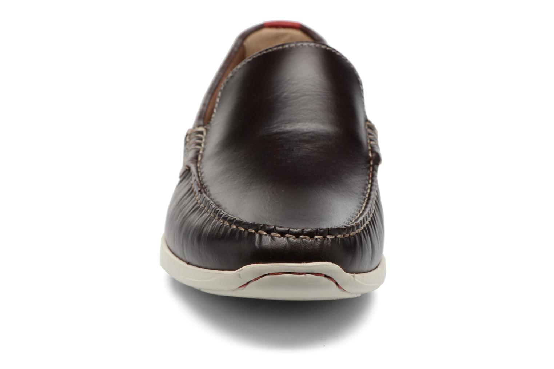 Mocassins Clarks Karlock Lane Marron vue portées chaussures