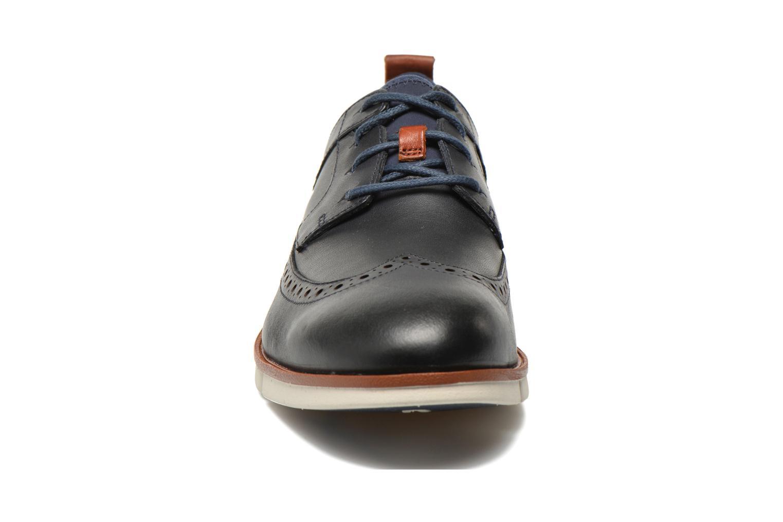 Chaussures à lacets Clarks Trigen Limit Bleu vue portées chaussures