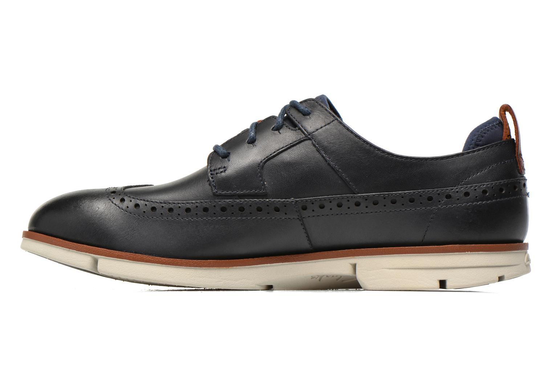 Lace-up shoes Clarks Trigen Limit Blue front view