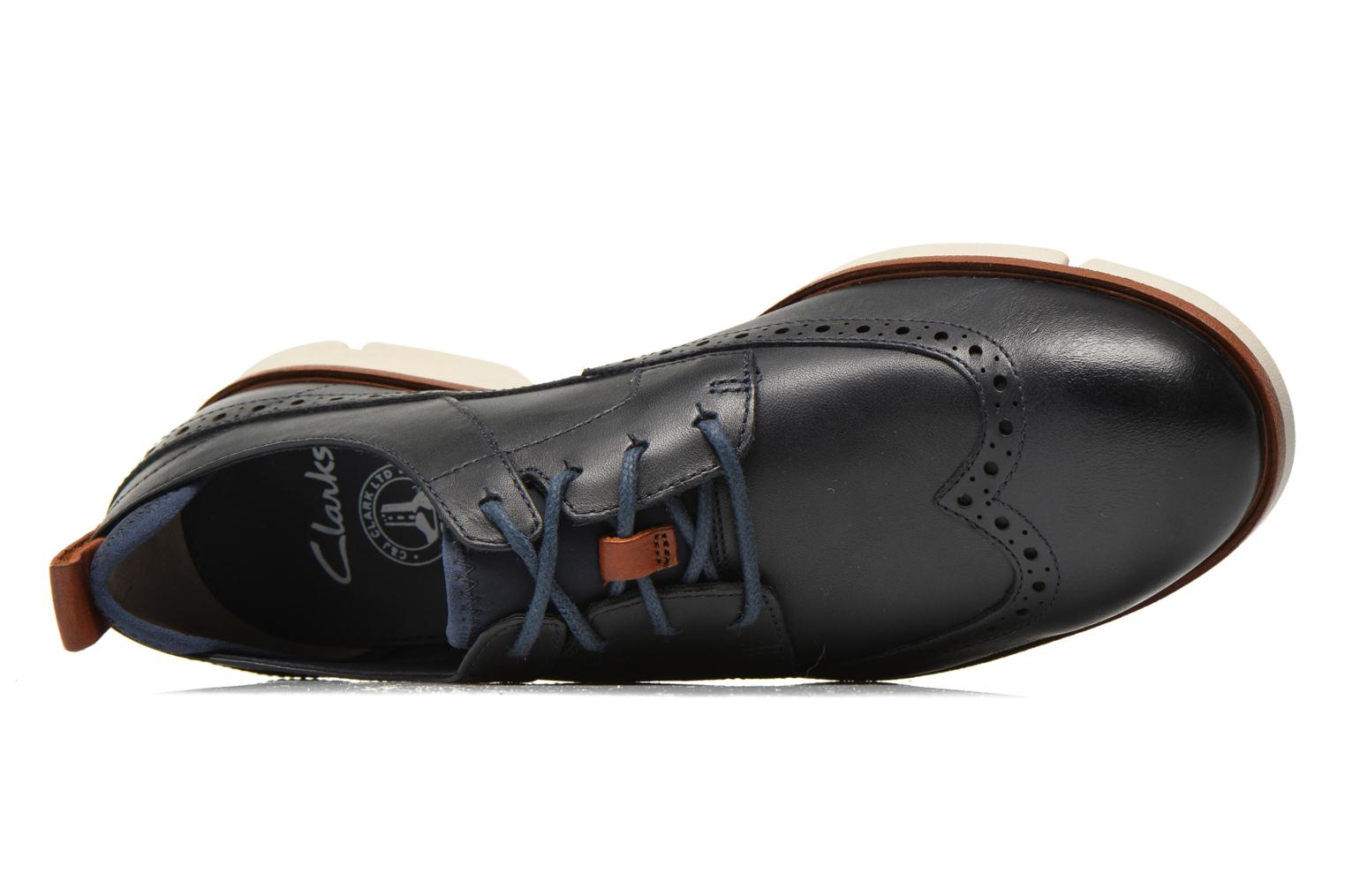 Lace-up shoes Clarks Trigen Limit Blue view from the left