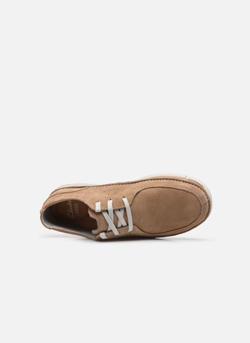 Zapatos con cordones Clarks Trikeyon Fly Marrón vista lateral izquierda