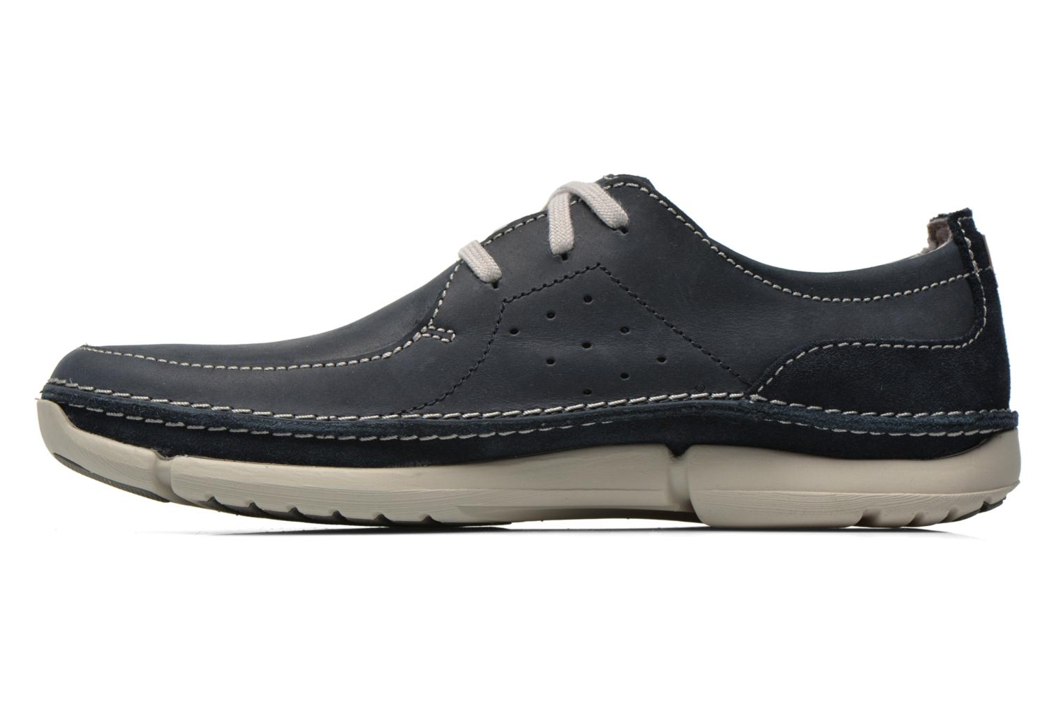 Lace-up shoes Clarks Trikeyon Fly Blue front view