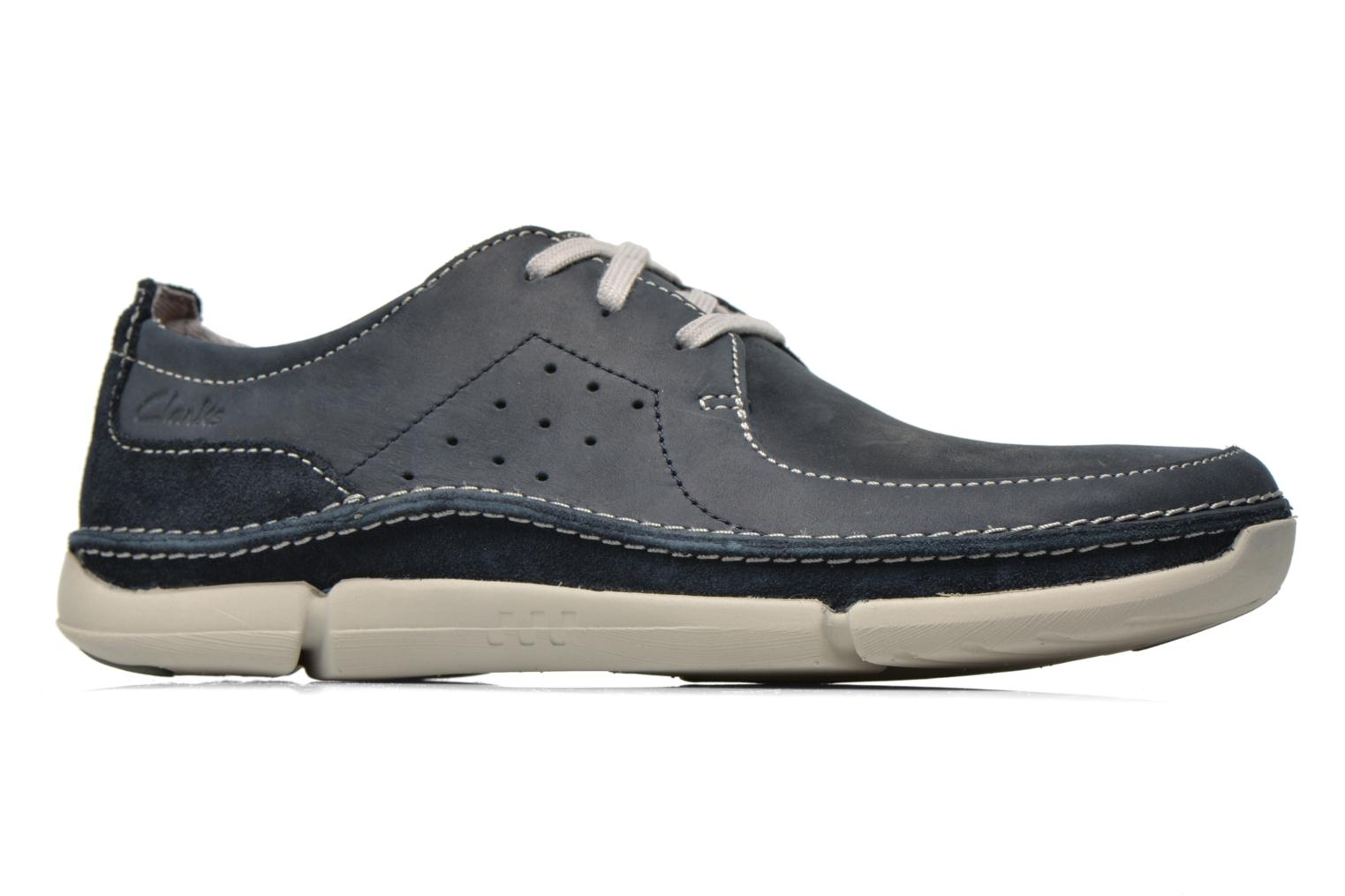 Lace-up shoes Clarks Trikeyon Fly Blue back view