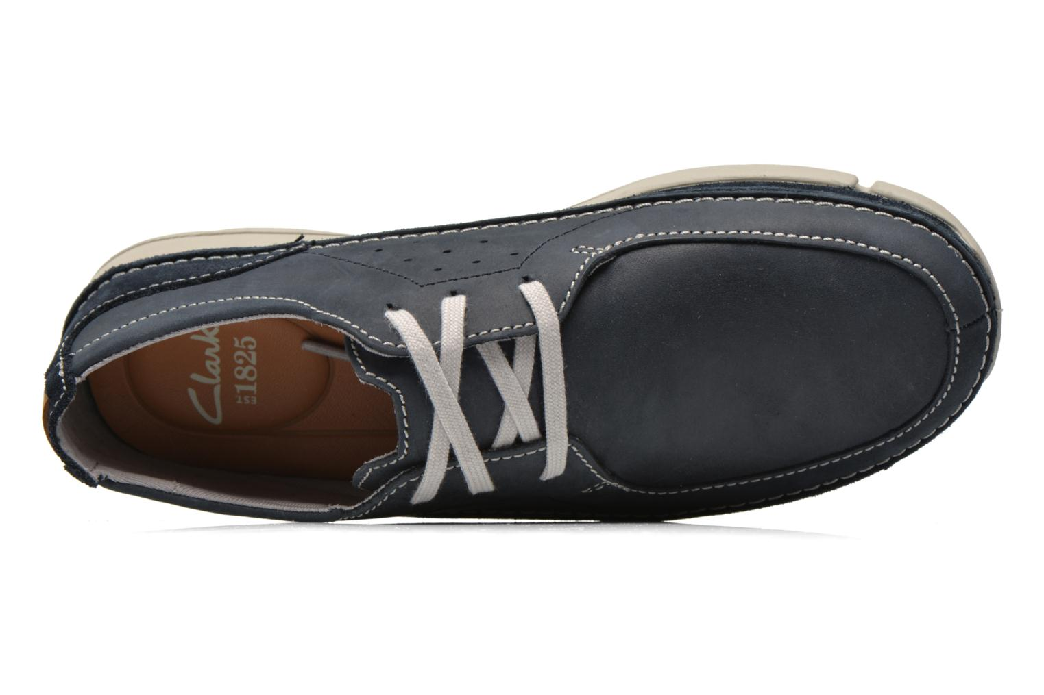Lace-up shoes Clarks Trikeyon Fly Blue view from the left