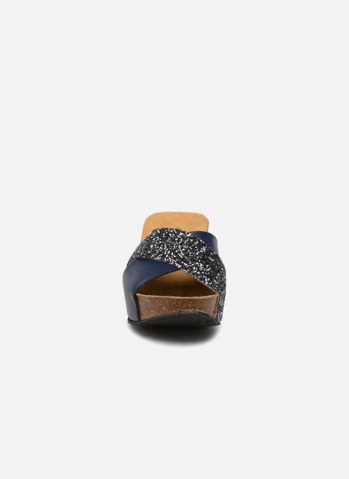 Mules et sabots Plakton So Clip Bleu vue portées chaussures