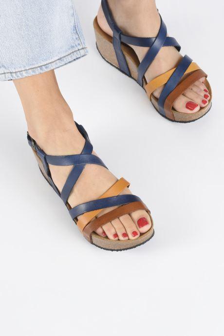 Sandales et nu-pieds Plakton So song Marron vue bas / vue portée sac