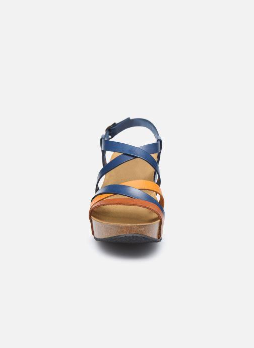 Sandales et nu-pieds Plakton So song Marron vue portées chaussures