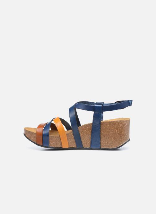 Sandales et nu-pieds Plakton So song Marron vue face