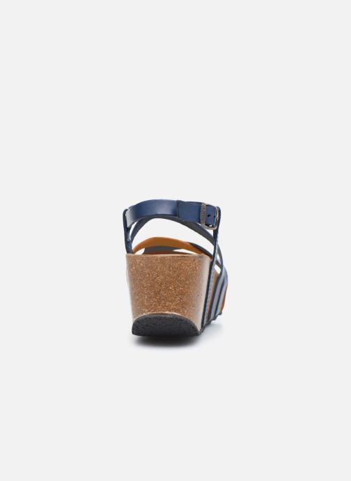 Sandales et nu-pieds Plakton So song Marron vue droite