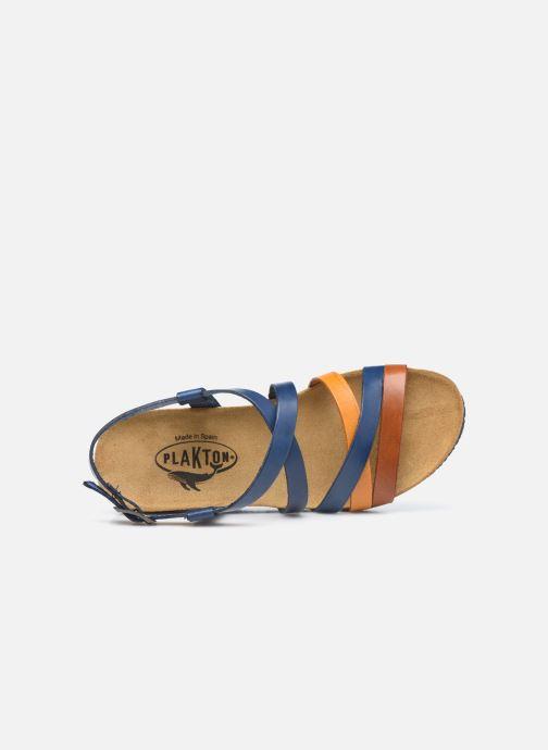 Sandales et nu-pieds Plakton So song Marron vue gauche